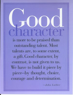 Random Acts of Kindness Foundation quote Are you Teaching Character Traits? (John Luther)