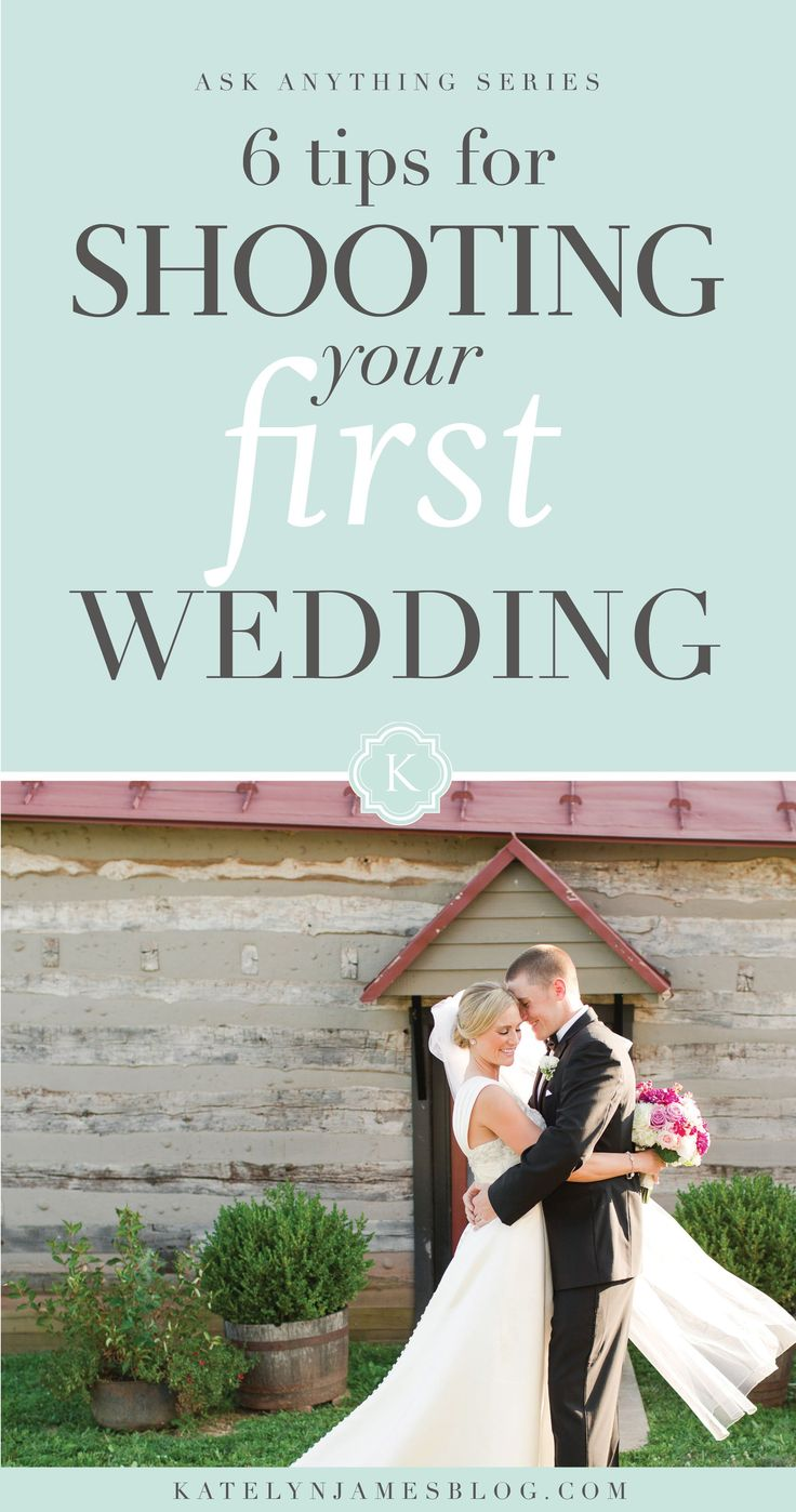 6 Tips for Shooting Your First Wedding by Katelyn James Photography