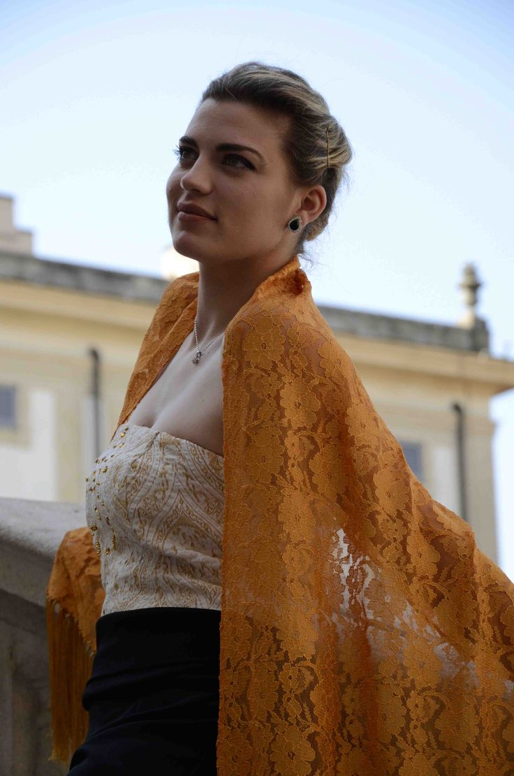 The elegance of our lace...discover all colors on shop.marinafinzi.com. #MadeinItaly #springsummer15 #cerimonia