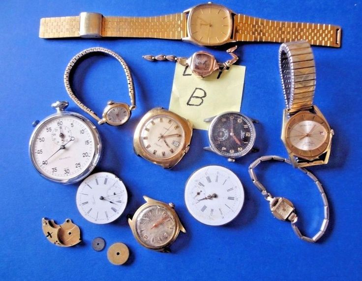 """Lot of Wrist Watches for Parts or Repair  Lot """"B"""""""