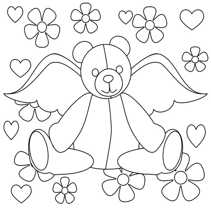 75+ best Coloring pages: Teddy Bears images by Kim Carter on ...