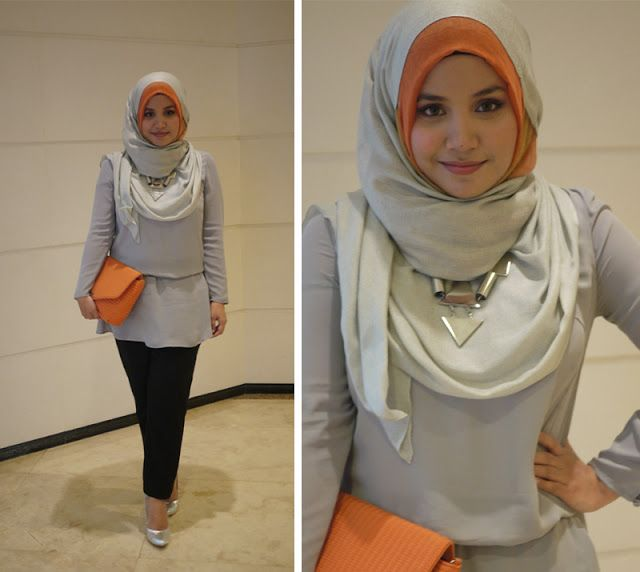 Aishah Amin is killing me with this color combo! but i prefer to wear A-line skirt