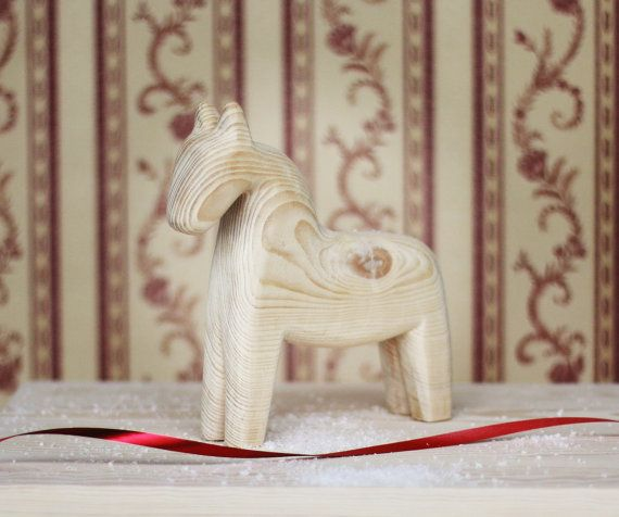 Big Wooden horse Scandinavian horse Christmas gift by ALiusy