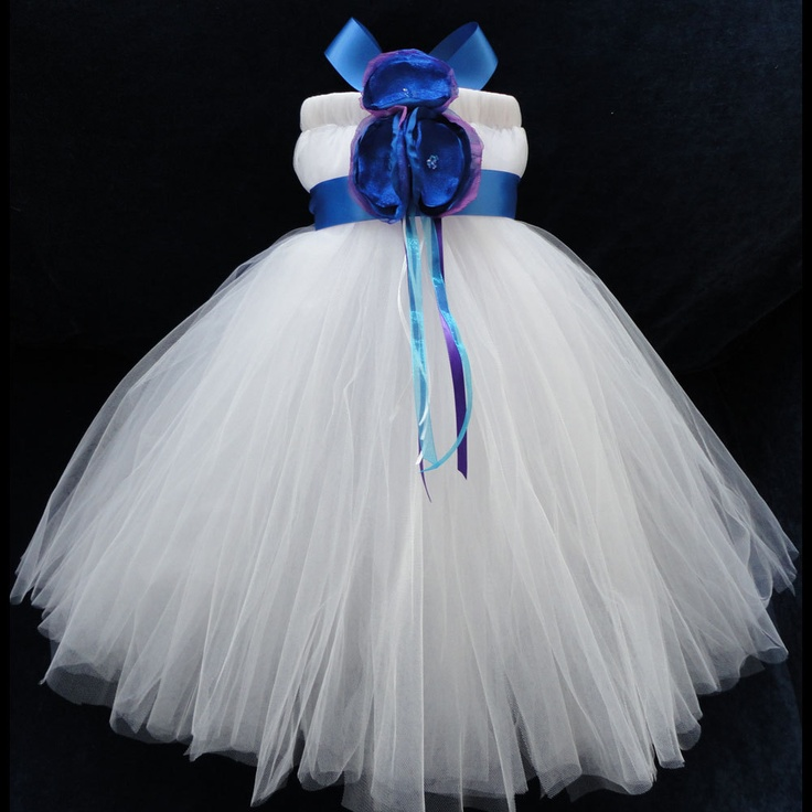 Peacock wedding flower girl dress little girls toddler for Peacock wedding dress sash