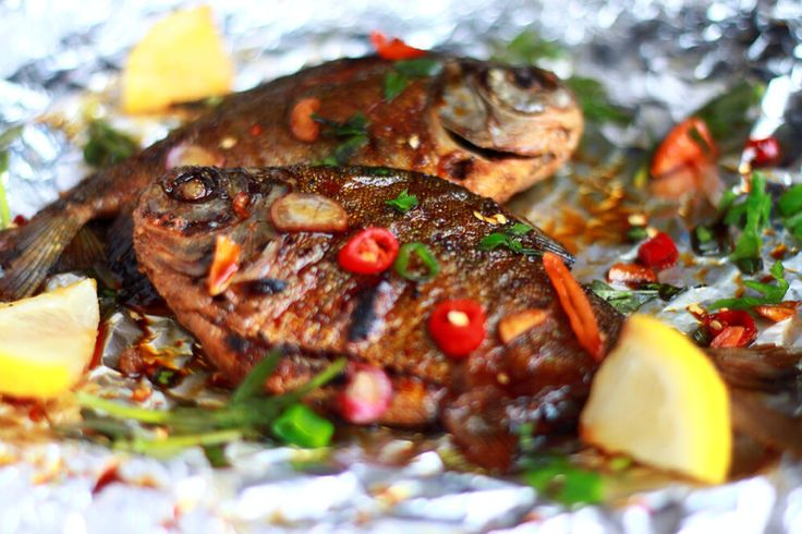Spicy grilled fish by Good Food Photography
