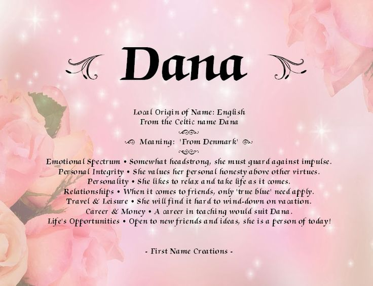 Dana Name Meaning | *NAMES/MEANINGS/ ZODIAC* | Pinterest - photo#30