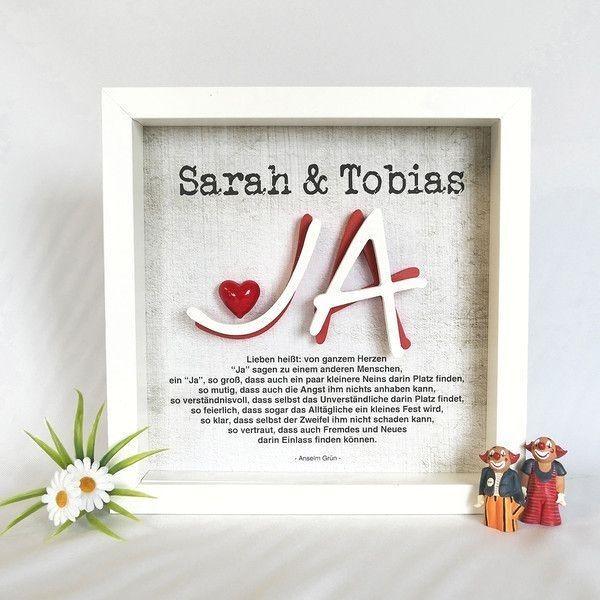 Hochzeit Ja Namen Bilderrahmen 3d Liebe Herz Handmade Geschenk Fur Einen Liebesbeweis Wie Z B Valentinstag Wedding Picture Frames Frame Wedding Gifts