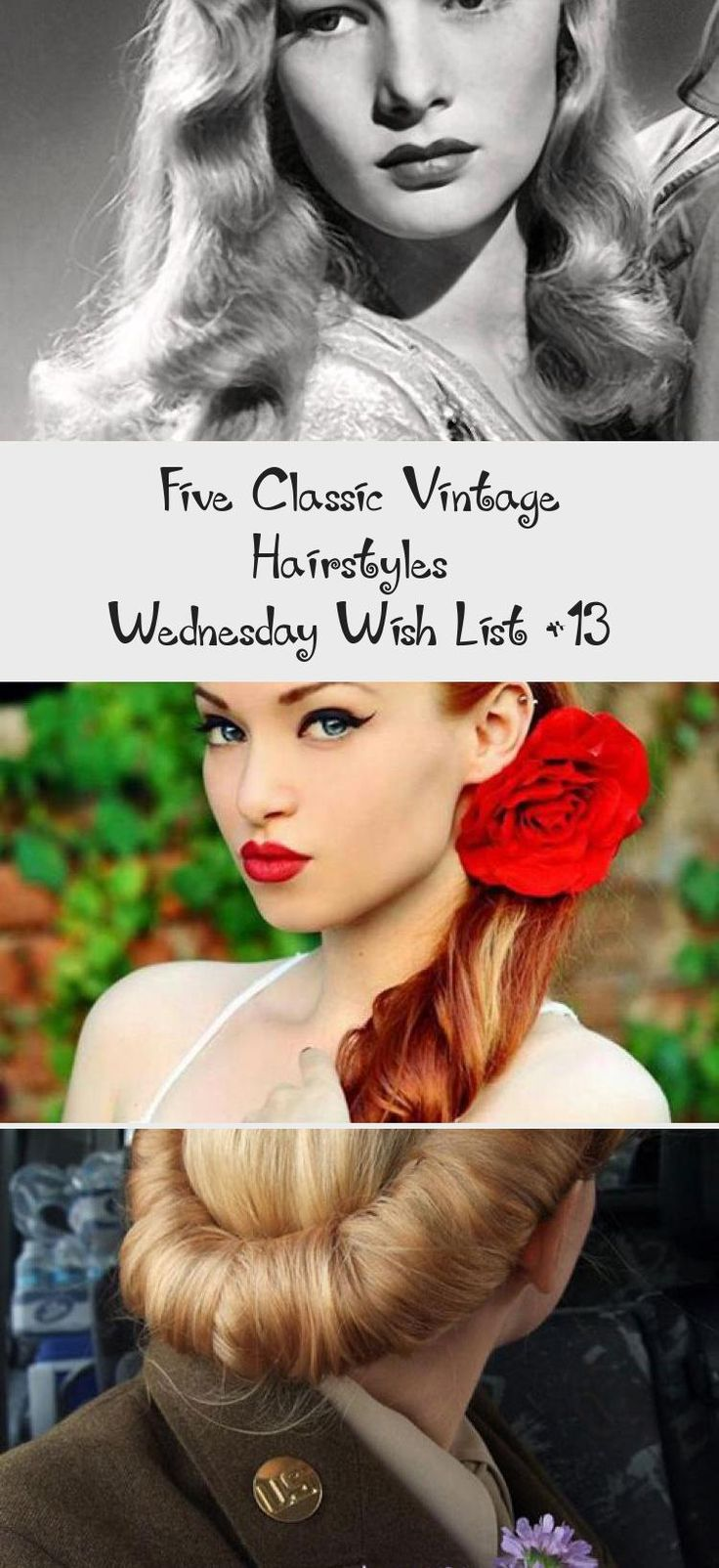 Five Classic Vintage Hairstyles – Wednesday Wish List #13