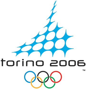 My favorite Winter Olympics logo. Very 2006 --- particle wave in negative space creating illusions of snowflakes plus the geometric font for torino 2006. Really creative.    39 Olympic Logos From 1924 to 2012 | Webdesigner Depot