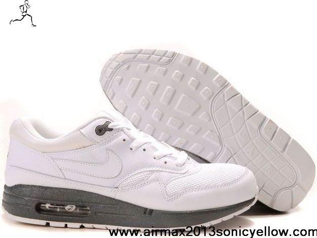 Sale Cheap White White Medium Grey 314199-111 Mens Nike Air Max 1 Shoes Shop