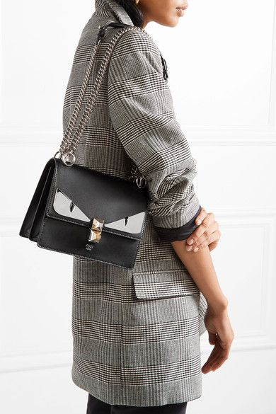 Fendi | Kan I mini leather shoulder bag | NET-A-PORTER.COM