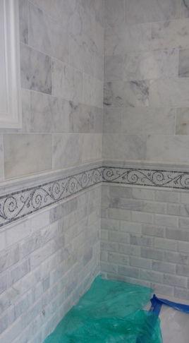 Bathroom Tile - large tile and small tile
