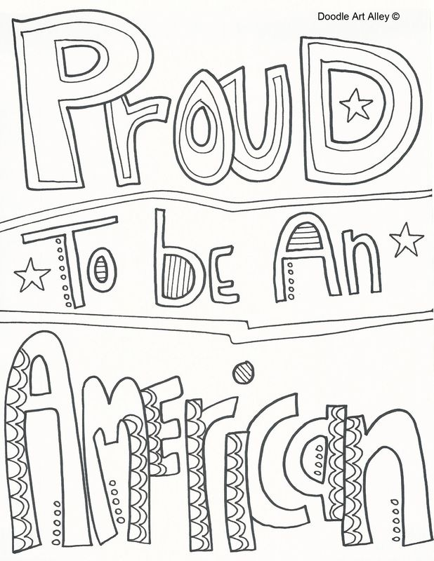 proud to be an american coloring page