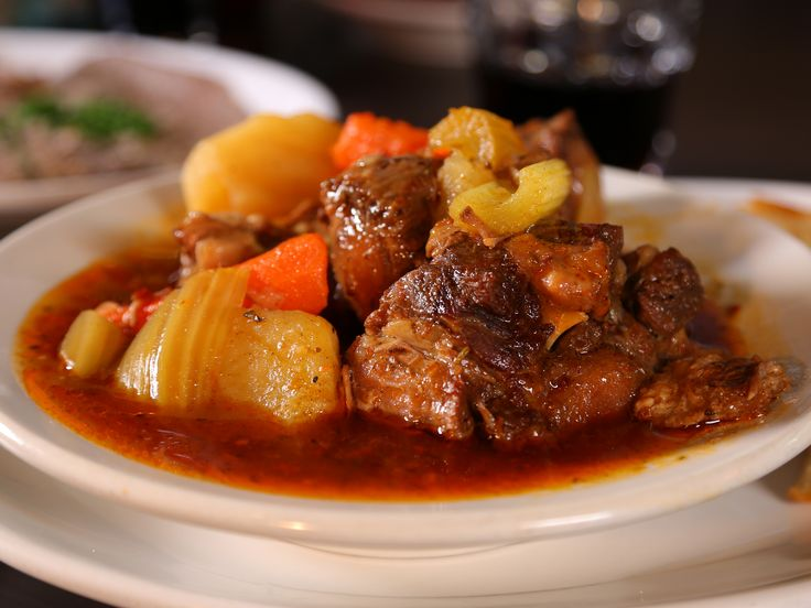 Oxtail Stew recipe from Diners, Drive-Ins and Dives via Food Network