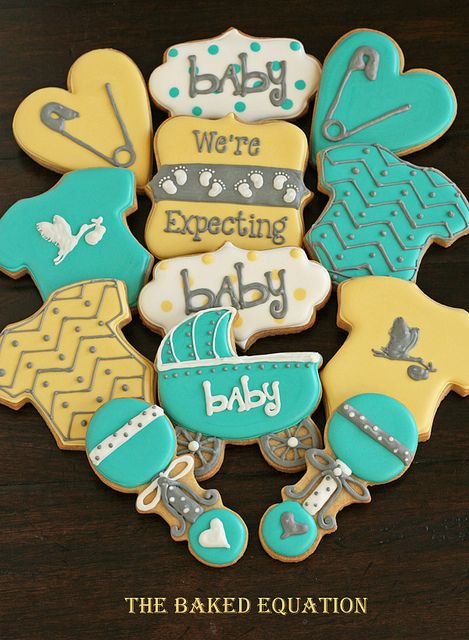 Baby Announcement Cookies | Flickr - Photo Sharing!