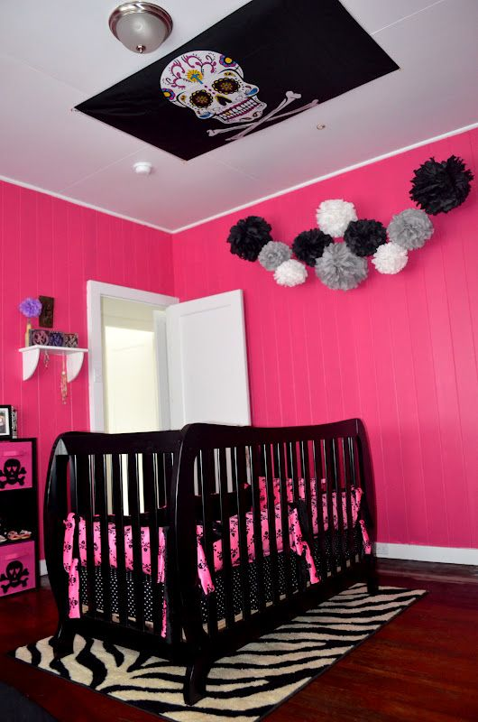 Baby Girl Room Ideas Pink And Black 85 best pink nursery design ideas images on pinterest | child room