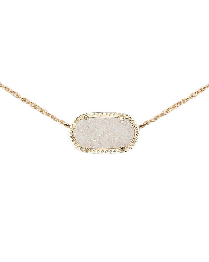 Elisa Pendant in Iridescent Drusy - Kendra Scott Jewelry. Available January 22, 2014.