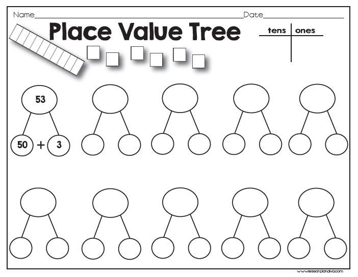 Place Value Tree Math, Ks1 maths and Math activities - place value worksheet