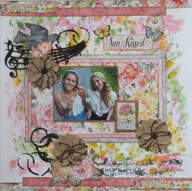 Bee Cee Creativity: 'Sun Kissed' using lots of Creative Embellishments Accents and The Rubber Buggy Products
