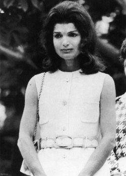 Jackie at the 4th Anniversary of Robert Kennedy's death in Arlington, VA (1972)