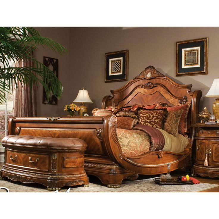 eleanor sleigh bed with elegant curved side rails | How To Make A Sleigh Bed - WoodWorking Projects & Plans
