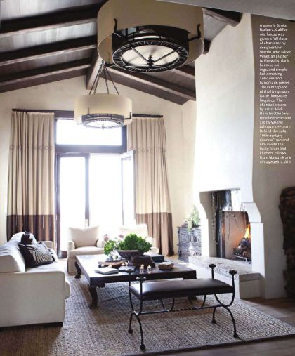 This dated Santa Barbara home was given a facelift by interior designer Erin Martin. The main focus was to apply Venetian plaster to the wa...