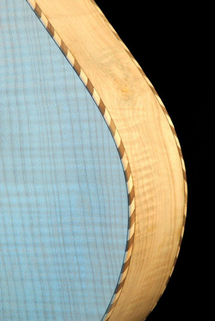 Detail of rope binding on a Weissenborn slide guitar.