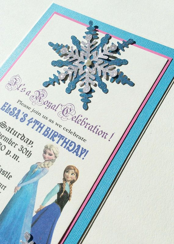 Frozen Invitations Disney Frozen Invitation by ArtisanHut on Etsy