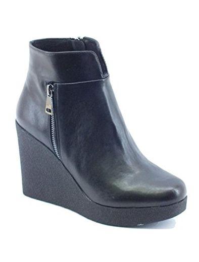 TOP Stiefel Damenschuhe Keilabsatz Wedges Boots 5805 Grau 41