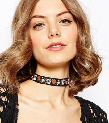Fashion jewelry bohemian style flower design weaving friendship choker necklace gift for women girl  N1860
