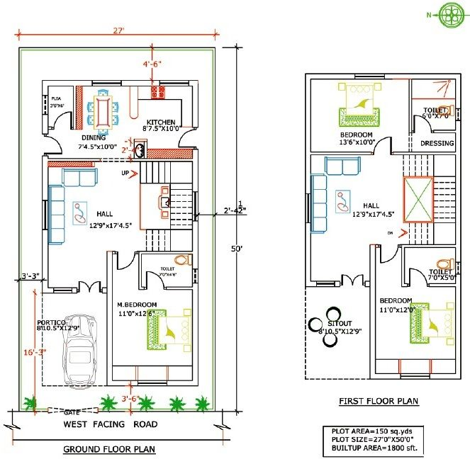 Floor Plan Mansani Constructions Pvt Ltd Laxmi Ganapathi West Facing House Duplex House Plans Duplex Floor Plans