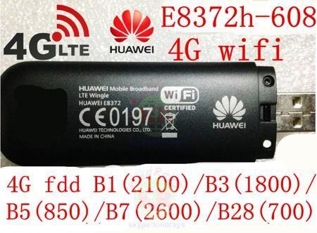 Unlocked Huawei E8372h-608 4g 3g usb wifi modem 3g 4g usb stick E8372 lte 3g 4G Wifi router 4G mifi Modem PK E8278 e8377 w800z  — 2577.32 руб. —