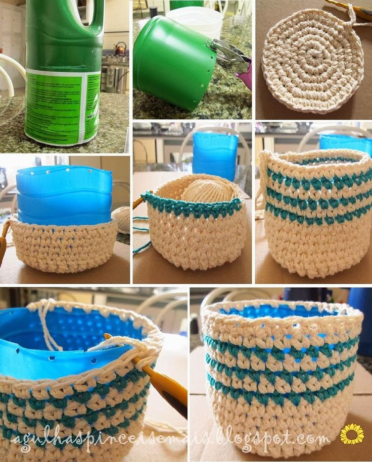 Brilliant--crocheted baskets with structure.