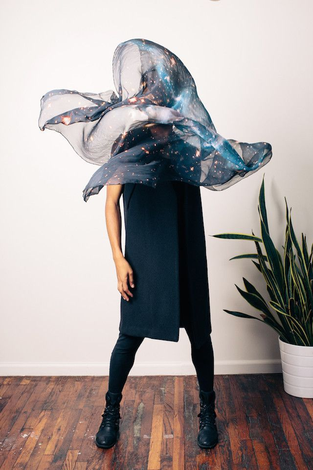 Designer Uses Open-Source NASA Hubble Telescope Images For Her Line Of Fantastically Ethereal Silk Scarves