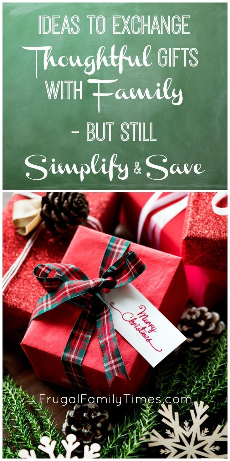 Thoughtful Ideas for Family Gift Exchanges - to help ...