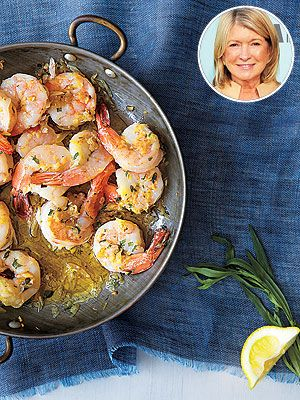 Martha Stewart's tarragon shrimp scampi recipe!! YUM!!  http://www.people.com/people/article/0,,20706466,00.html