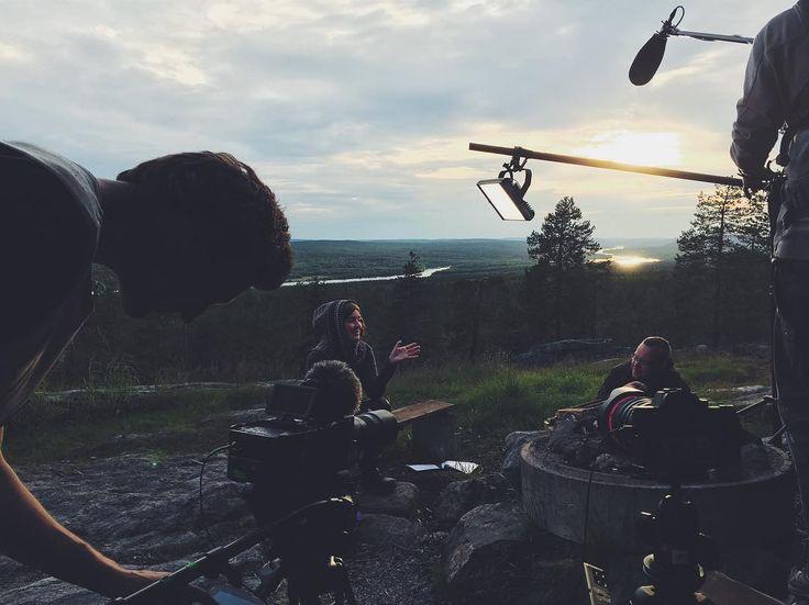 Photo by Flatlight Creative House (@flatlight_creative) • Instagram We are shooting last scenes for #MetsienKätkemä / #BackToNature TV-series. #FlatlightCreative #Retkipaikka #arcticshooting #kuninkaanlaavu #Rovaniemi #finnislapland #shooting #filming