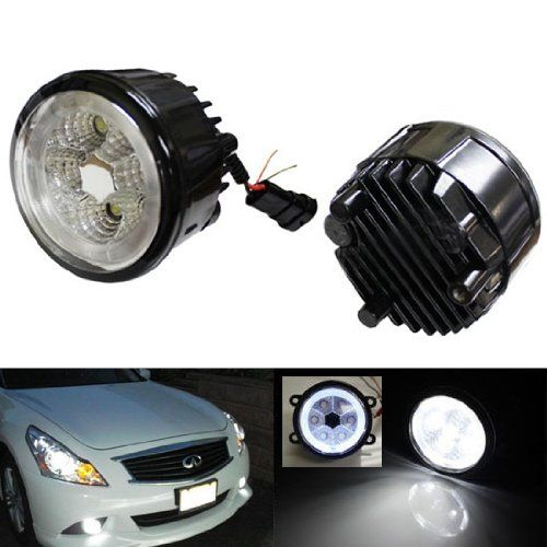Amazon.com: iJDMTOY 18W High Power 6-LED Fog Light Lamps Assy with LED Halo Rings Fit Infiniti G25 G37 FX35 FX45 FX45 M37 Nissan Juke Cube Rogue Quest Murano, Xenon White: Automotive