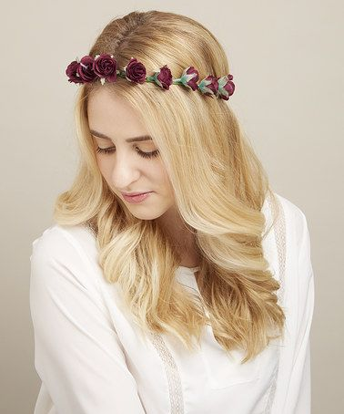 This Dark Purple Rosebud Halo Headband by Mia Beauty is perfect! #zulilyfinds