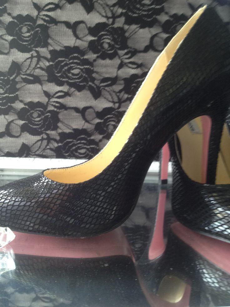 our new black snake stilettos