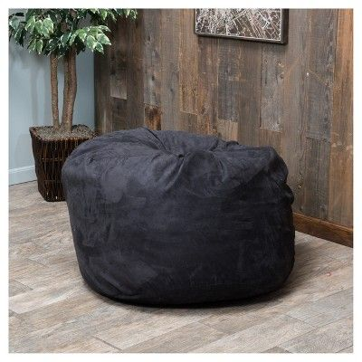Paige Bean Bag - Black - Christopher Knight Home