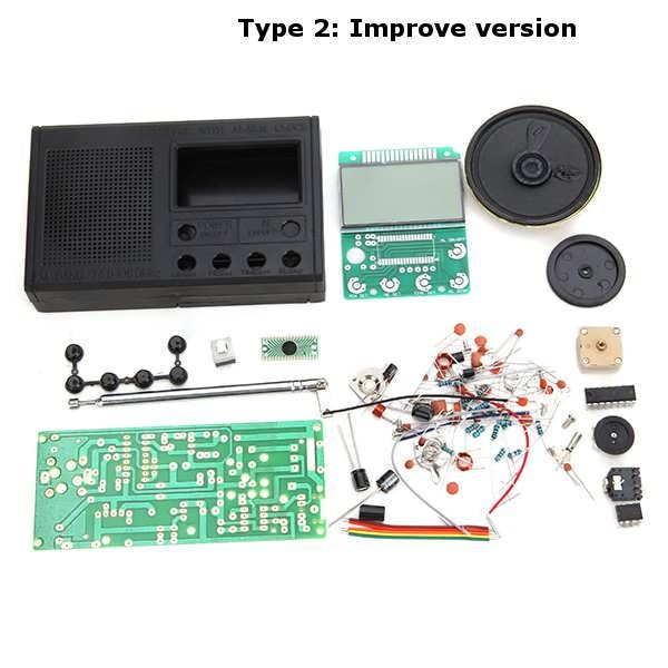 Geekcreit® DIY 3V FM Radio Kit Electronic Learning Suite Frequency Range 72MHz-108.6MHz  Worldwide delivery. Original best quality product for 70% of it's real price. Buying this product is extra profitable, because we have good production source. 1 day products dispatch from ...