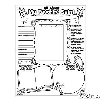 """Color Your Own """"All About Saints"""" Posters"""