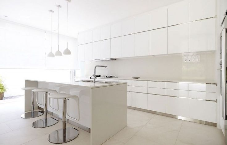 kitchen-furniture-sensational-contemporary-stools-kitchen-with-chrome-plated-stools-stand-also-white-kitchen-cabinet-design