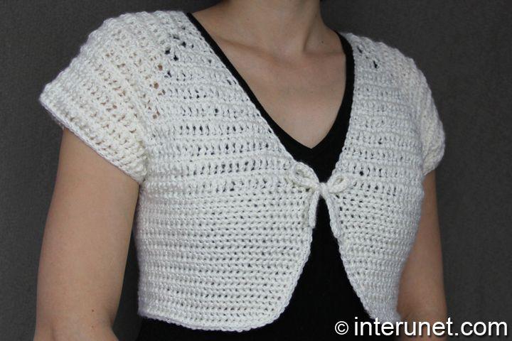 White Bolero Sweater
