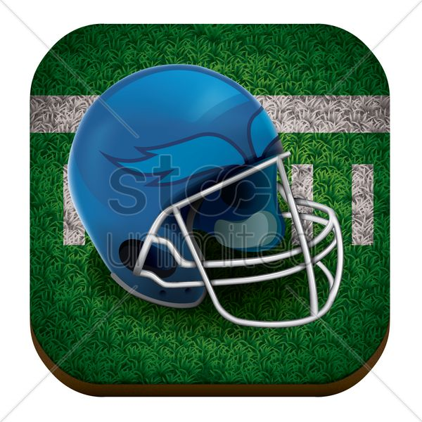 american football helmet Stock Vector, realistic icon artwork