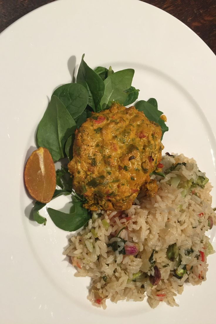 Curried Fish with oven baked rice