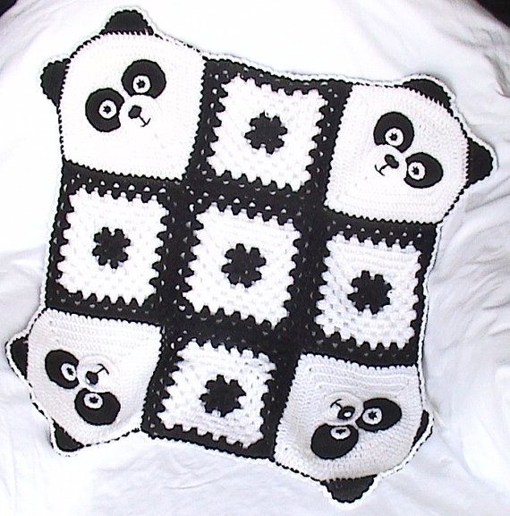 Crochet Panda BlanketCrochet baby by NPhandmadeCreations on Etsy