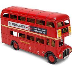 Ônibus Decorativo Routemaster Q7159-9 - Vermelho - Importado