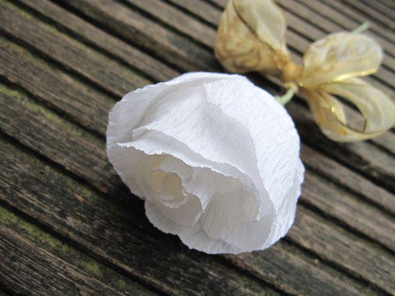10 pcs White Paper Flower Wedding Decorations by moniaflowers